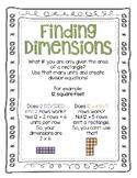 Area Finding Dimensions Digital and Print Bundle No Prep