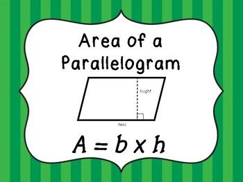 Area Formula Posters