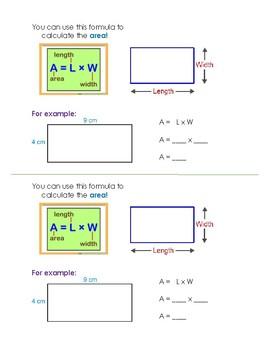 Area Formula and Example