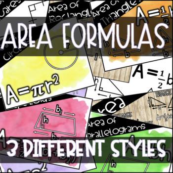 Area Formulas Display Set
