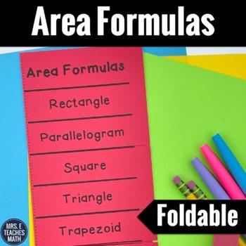 Area Formulas Foldable