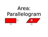 Area Formulas Posters