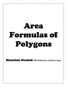 Area Formulas of Polygons