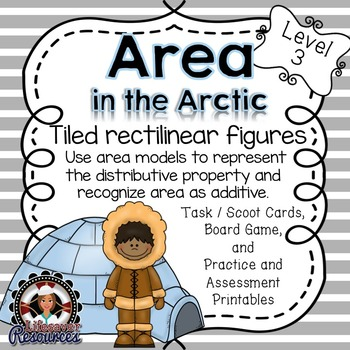 Area Game with Printables - Recognize Area as Additive