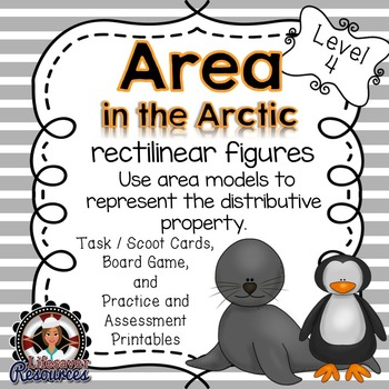 Area Game and Printable Worksheets- Rectilinear Figures
