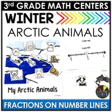 Winter Fractions on Number Lines Game