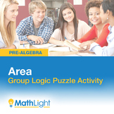 Area Group Activity- Logic Puzzle | Good for Distance Learning