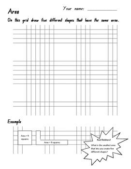 Measurement - Area - Informal - Comparison