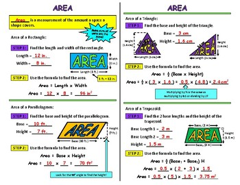 Area Interactive Notebook Page