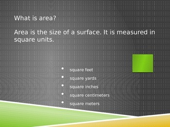 Area Introduction and Practice PowerPoint