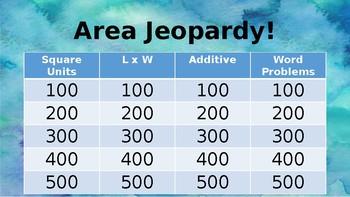 Area Jeopardy!