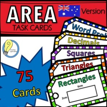 Area Task Cards Metric Units