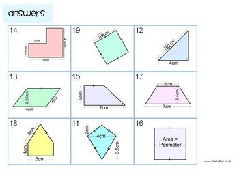 Area of Triangles, Quadrilaterals & Compound Figures Magic Square