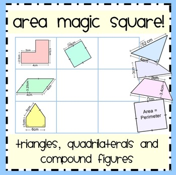 Area Of Triangles And Quadrilaterals Worksheet Teaching Resources