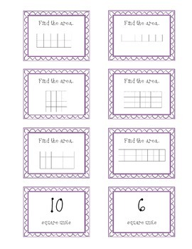 Area Matching Game