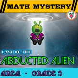 5th Grade Area Math Mystery, Area of rectangles, missing sides, cost,