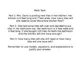 Area Math Task