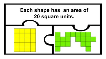 Area Math Work Station Centers Puzzles with response sheet 2nd 3rd Grade