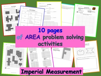 Area - Measuring Area Activities - Imperial Measurement - 9 pages
