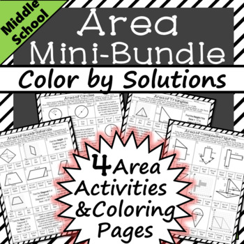 Area Worksheets Mini Bundle