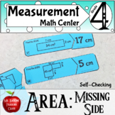 Area - Missing Side   Finding the Missing Side when Given the Area of Rectangles