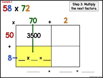 Area Model - Open Array - Presentation and Worksheets