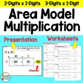 Area Model for Multiplication - Open Array  - Box Model