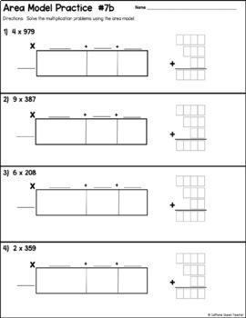 Area Model for Multiplication   Open Array   Box Model   TpT