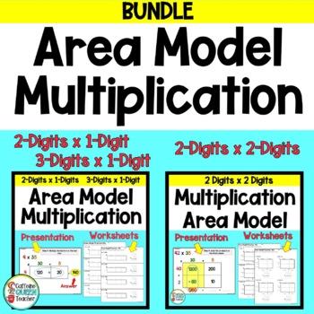 Area Model - Box Model - Open Array - Presentation and Worksheet Bundle