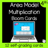 Area Model Boom Cards 2-Digit by 2-Digit Multiplication 4th Grade