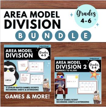 Area Model Division Match Games/ Scoot Bundle: Partial Quotients Grades 4-5