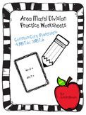 Area Model Division Practice Worksheets