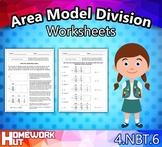 4.NBT.6 - Area Model Division Worksheets