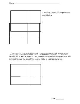 Area Model Guided Worksheet and Homework