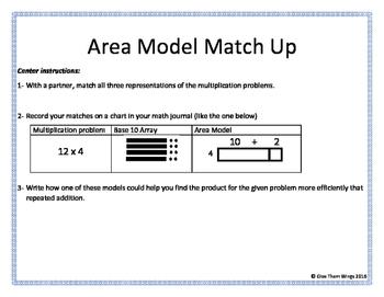 Area Model Match Up