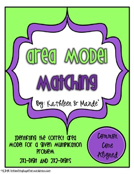 Area Model Matching Cards ~ CCSS Aligned
