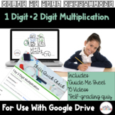 Area Model Multiplication 1 by 2 Digit Video Lesson