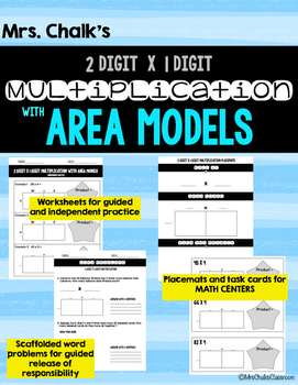 Area Model Multiplication - 2 digit by 1 digit