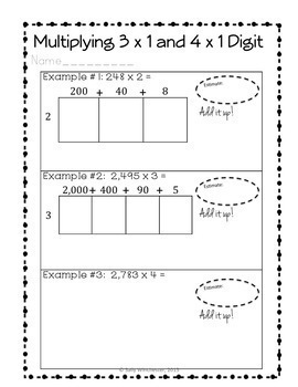 Area Model Multiplication: 6 Day Bundle, 4th Grade No-Prep Lesson Packets