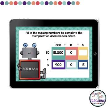 Area Model Multiplication Boom Cards
