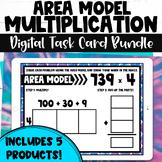 Area Model Multiplication Digital Task Card Bundle