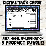 Area Model Multiplication Digital Task Card Bundle
