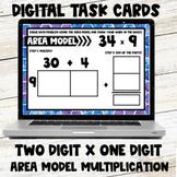 Area Model Multiplication Digital Task Cards - Two Digit b