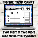 Area Model Multiplication Digital Task Cards - Two Digit b