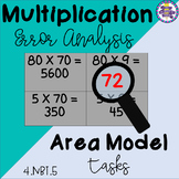 Area Model Multiplication Error Analysis