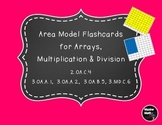 Area Model Flashcards for Arrays, Multiplication & Division