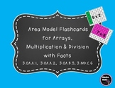 Area Model Multiplication Flashcards for Arrays, Multiplication & Division