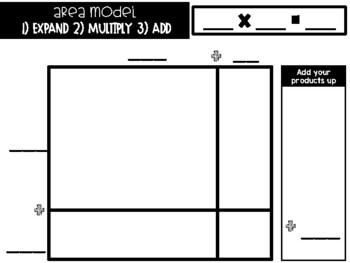 Area Model Multiplication Game