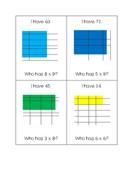 Area Model Multiplication I Have...Who Has Game
