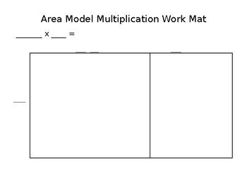 Area Model Multiplication Mat